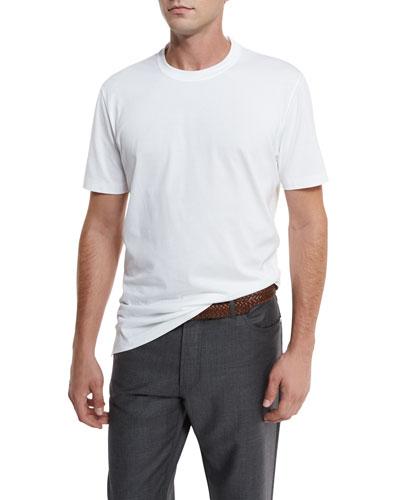 Cotton Crewneck T-Shirt, White