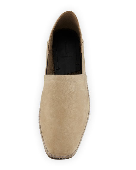 Barnes Nubuck Leather Espadrille, Tan