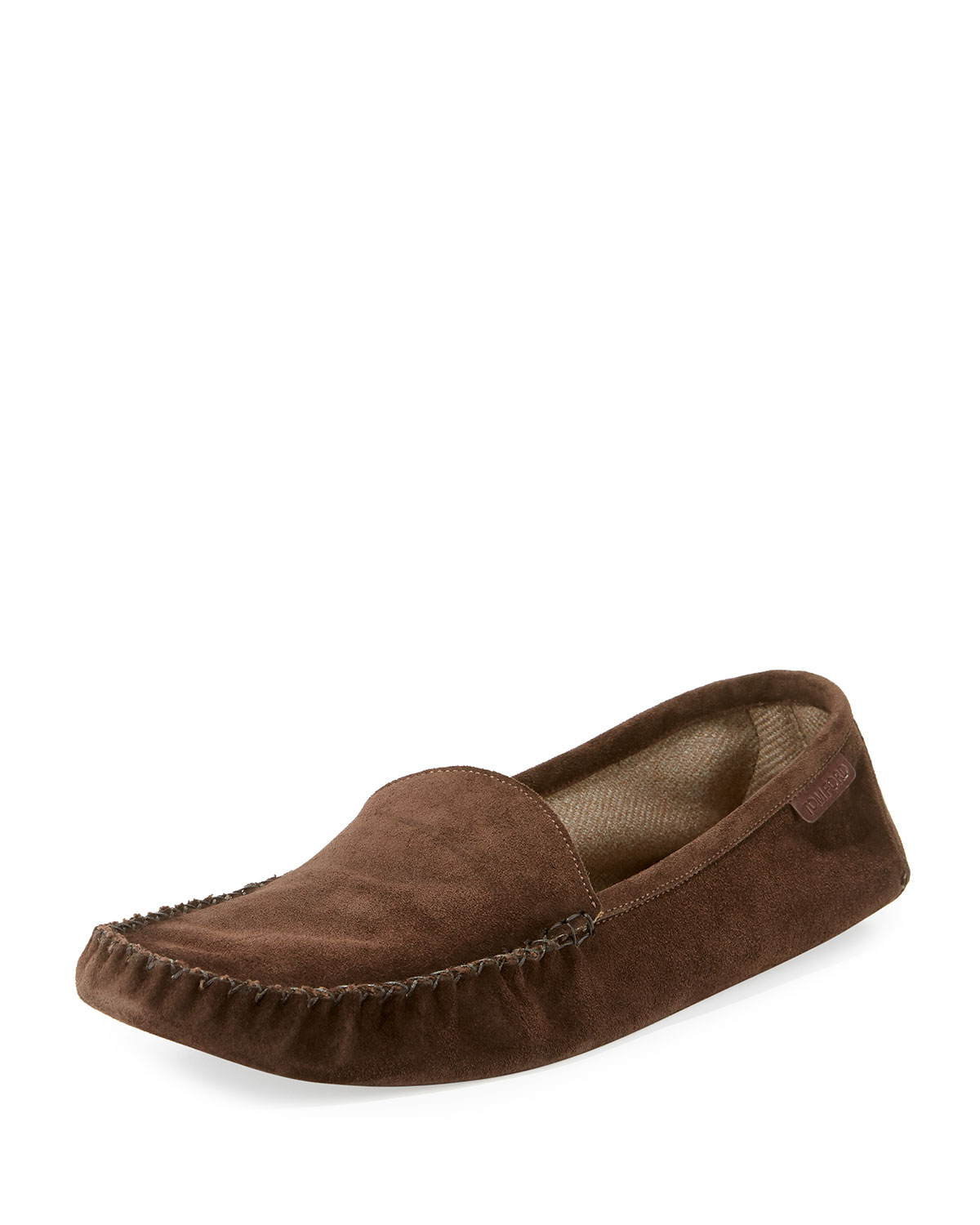 Tom Ford Slippers Howard Suede Travel Slipper  Chocolate