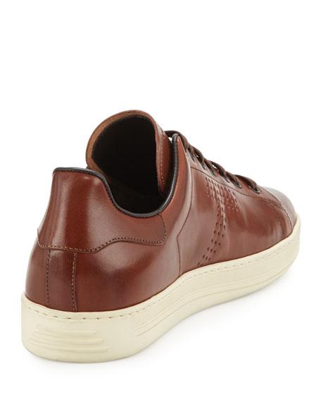 Warwick Leather Low-Top Sneaker, Brown