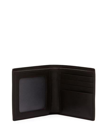 Woven Leather Bi-Fold Wallet