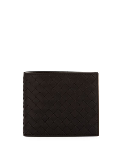 Woven Leather Bi-Fold Wallet