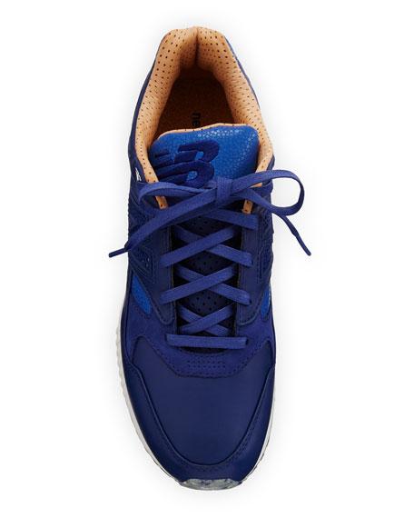 Men's ML530 Leather Trainer Sneaker, Blue/Brown