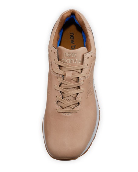 Leather Low-Top Sneaker, Tan