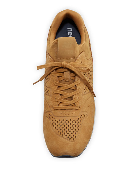 696 Deconstructed Lace-Up Sneaker, Beige