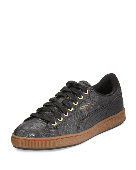 Limited Edition Basket BBall Men's Low-Top Sneakers, Black/Gold