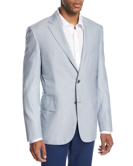 Fine-Line Wool-Silk Sport Coat