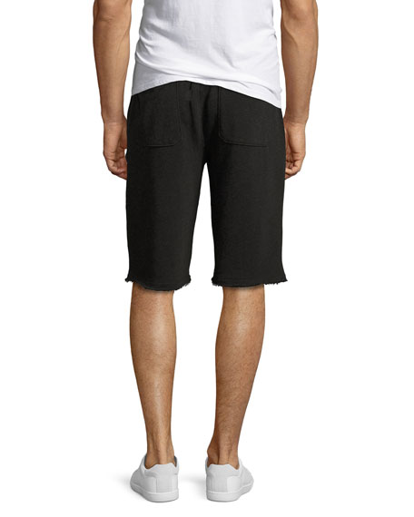 French Terry Pull-On Shorts, Charcoal