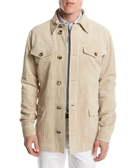 Suede Desert Jacket, Tan
