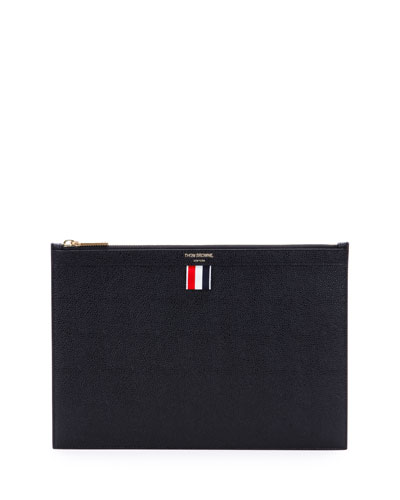 Leather Tablet Case w/Zip  Black