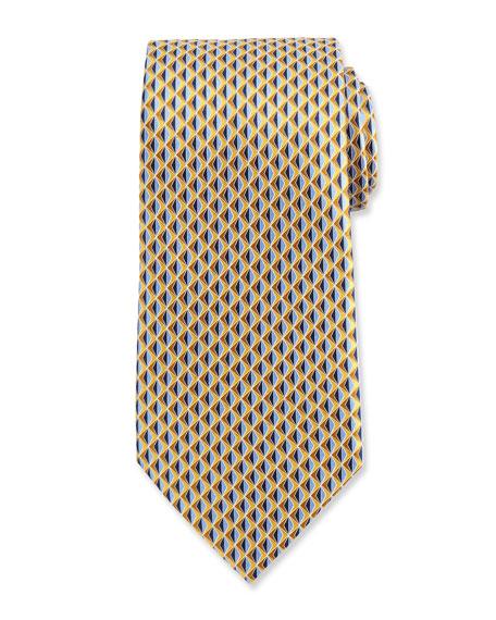 Ermenegildo Zegna Neat 3D Diamond Printed Silk Tie,