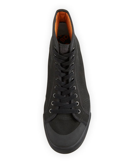 Men's Spirit Canvas High-Top Sneakers, Black