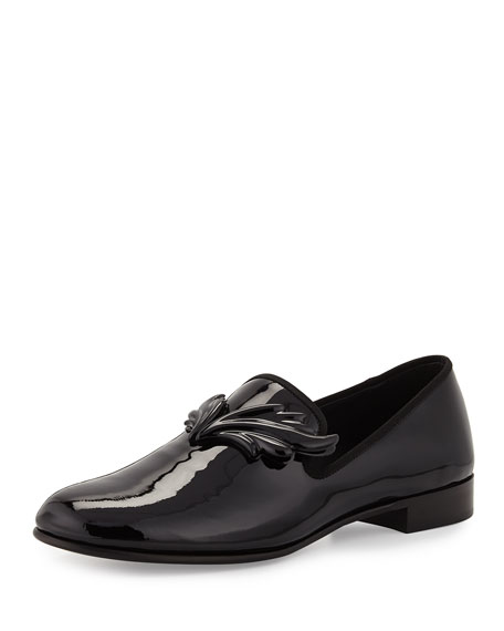 Giuseppe Zanotti Kevin Patent Wing Formal Loafer, Nero