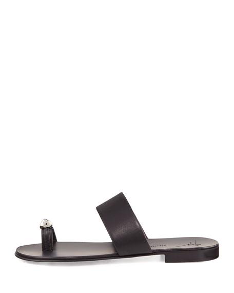 Men's Metal Toe-Guard Sandal, Black