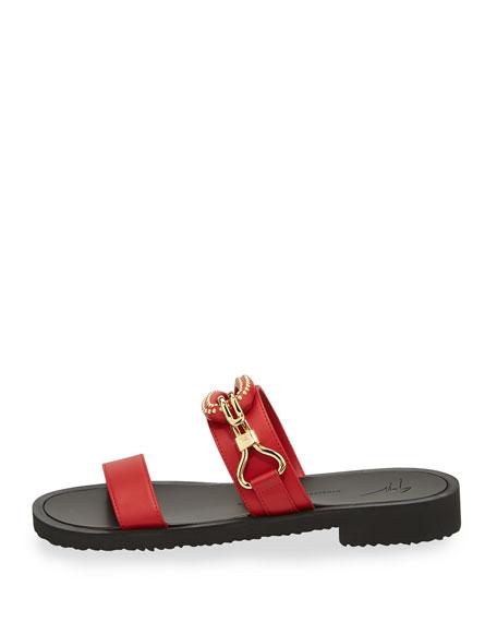Men's Gomzak New Hook Slide Sandal, Red