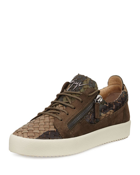 Giuseppe Zanotti Men's Camo Woven Leather & Suede