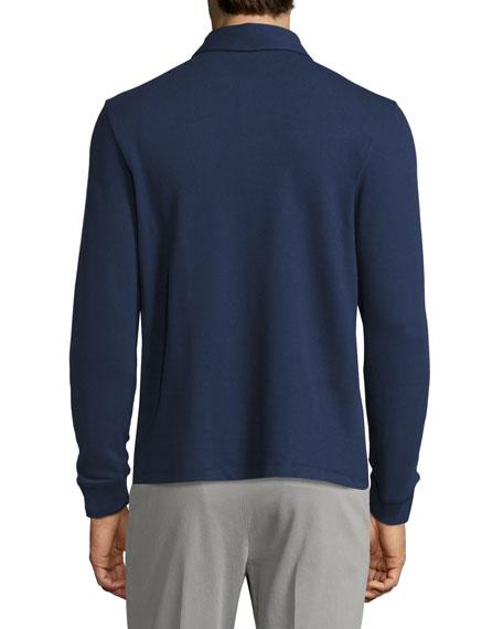 Comfort Piqué Long-Sleeve Polo Shirt