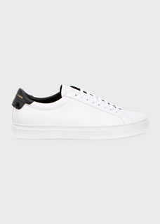 Men's Urban Street Leather Low Top Sneakers by Givenchy