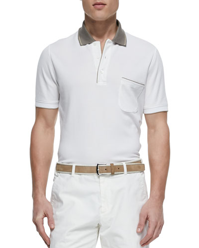 Regatta Contrast-Collar Polo, White