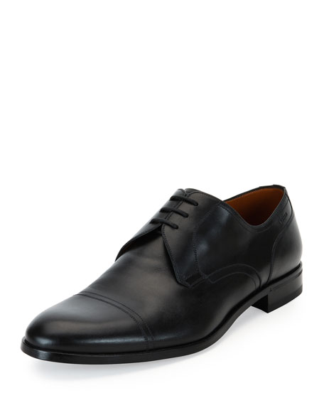 Bally Leather Cap Toe Lace Up Shoes Saks