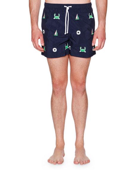 f47b4bac13cd8 Thom Browne Icon Embroidered Swim Shorts
