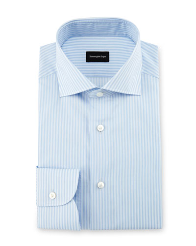 Striped Dress Shirt, Light Blue
