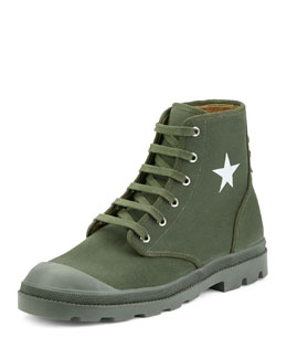 Olympus Canvas Combat Boot
