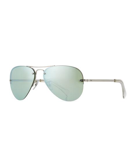 Men's Semi-Rimless Aviator Sunglasses