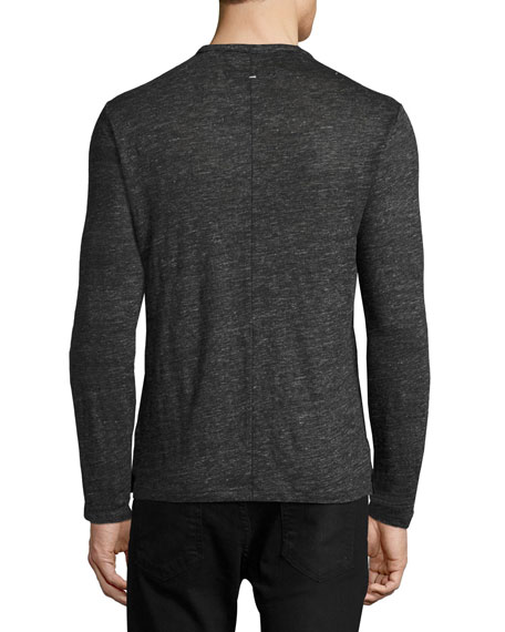Men's Owen Long-Sleeve Linen T-Shirt