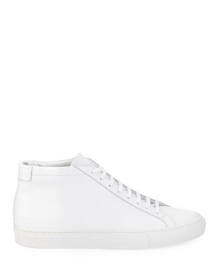Original Achilles Men's Leather Mid-Top Sneaker, White
