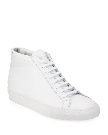 Common Projects Original Achilles Men's Leather Mid-Top Sneaker,