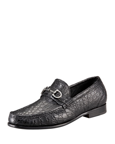 Crocodile Bit Loafer