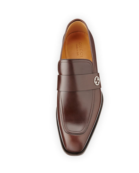 c8d35ced48e Gucci Broadwick Leather Loafer