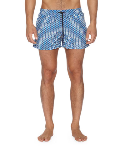 Monster Eye Swim Trunks, Blue