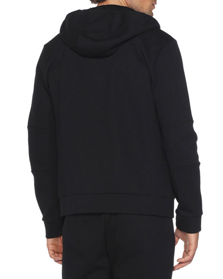 Monster Eyes Zip-Front Hoodie, Black