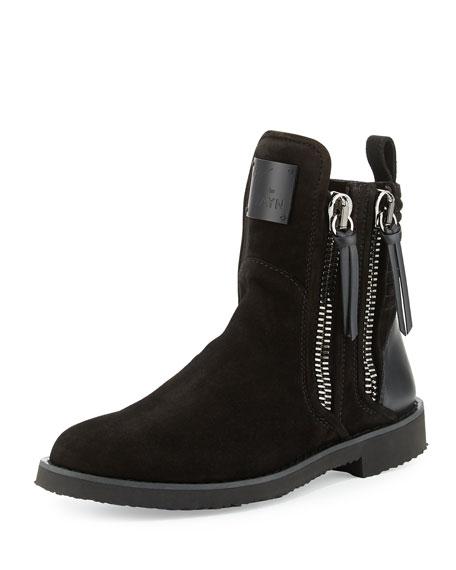 Giuseppe Zanotti Suede Double-Zip Boots SGRkG9