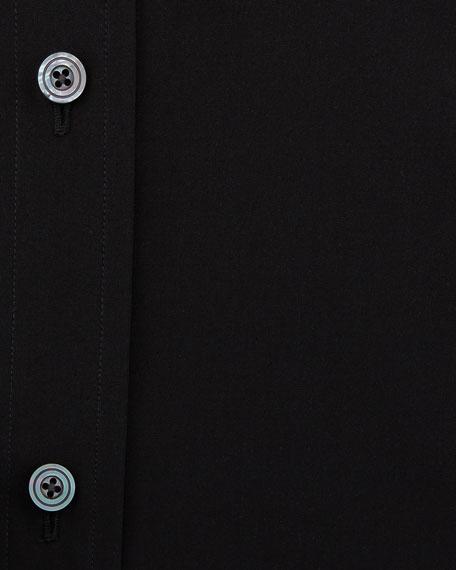 Classic Barrel Cuff Dress Shirt, Black