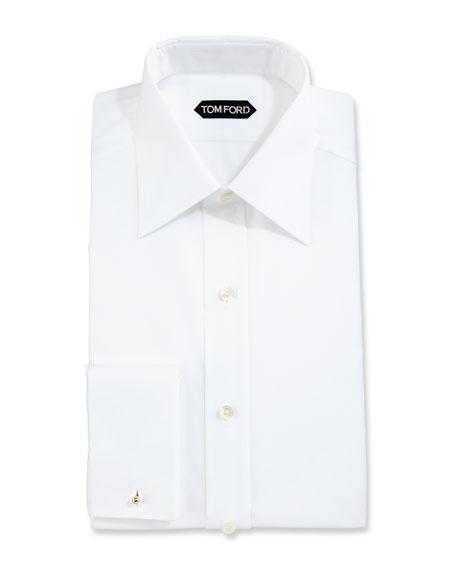 Slim-Fit Solid Dress Shirt, White