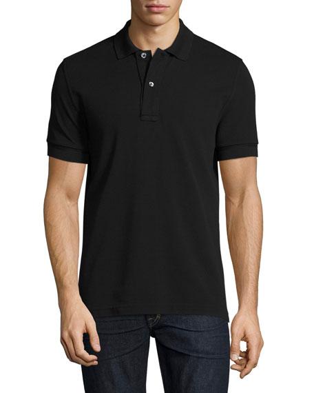 Pique Polo Shirt, Black