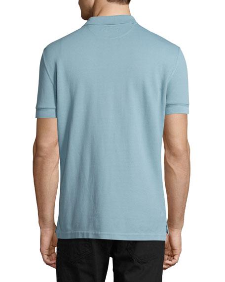 Pique Polo Shirt, Light Blue