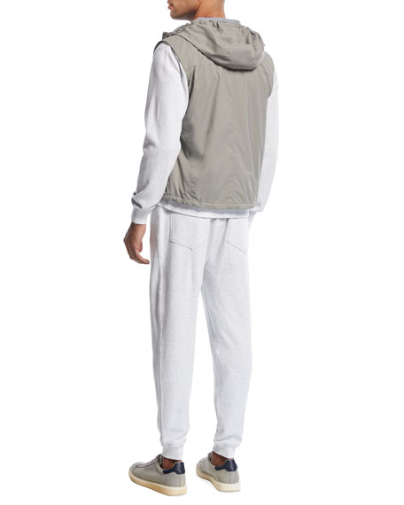 K-Way Hooded Spa Vest, Asphalt