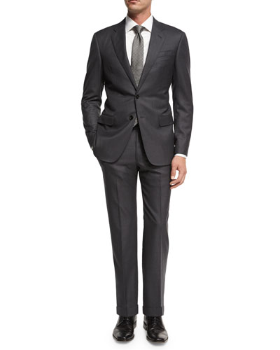 Soft Basic Wool Two-Piece Suit