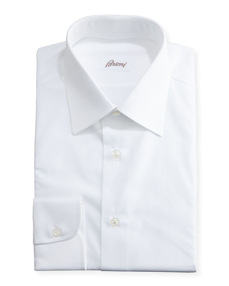 Wardrobe Essential Solid Dress Shirt, White