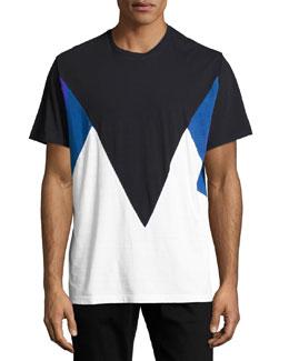 Modernist Colorblock T-Shirt, Navy