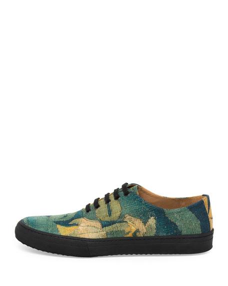 Men's Cotton Low-Top Sneakers, Gray