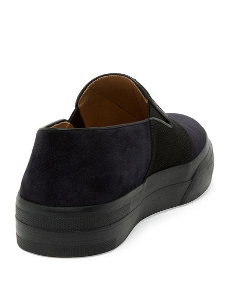 Leather Slip-On Sneaker, Blue