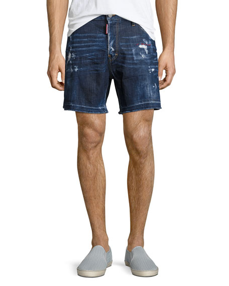 American Pie Denim Shorts, Blue