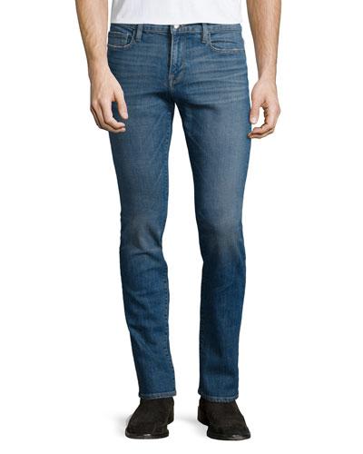 L'Homme Brooks Slim-Straight Jeans, Blue
