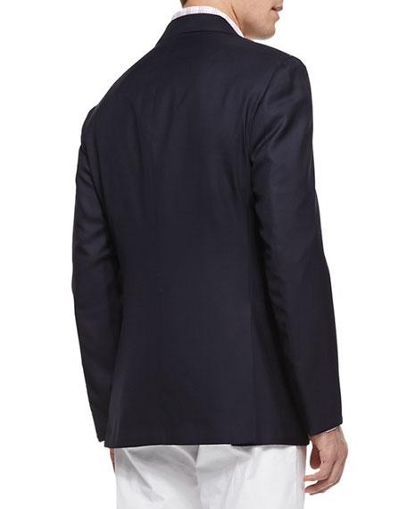 Three-Button Wool Blazer