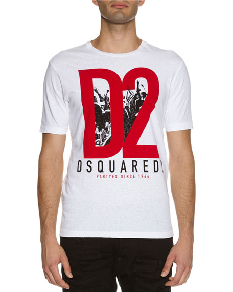 Dsquared2 Parties Logo Graphic T Shirt White